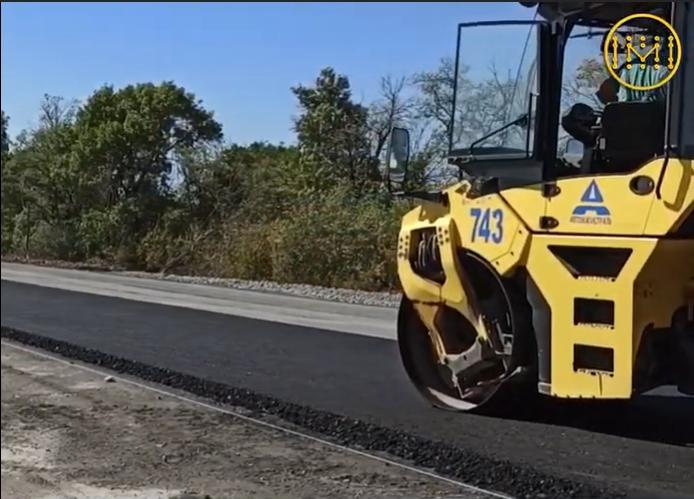 Дорога H-32 Покровськ-Бахмут-Михайлівка капітально ремонтується